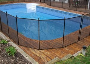 installed swimming pool fence in a Vermont home
